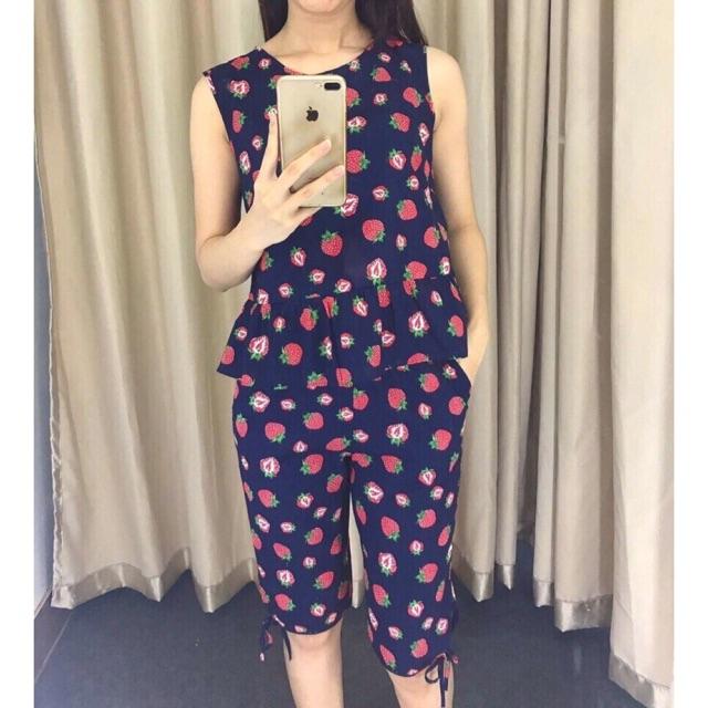 (Sale 130k) Bộ mặc nhà thô thái xinh yêu