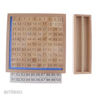 [AMLESO] 1-100 Wood Montessori Mathematics Material Consecutive Numbers Sorting Toy