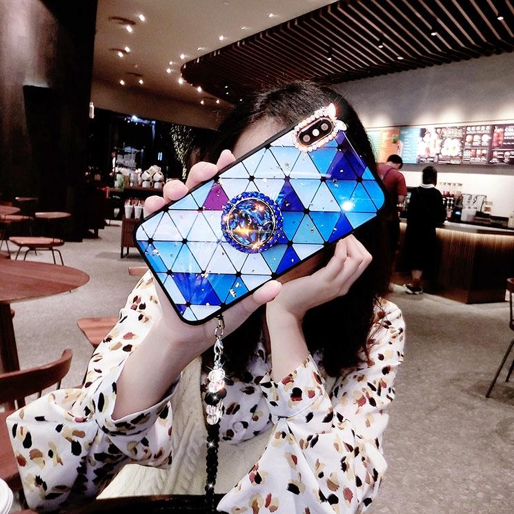 VIVO V15 Pro V9 V7 V5 Plus V5 Lite DIY Grid Women Diamond Bling