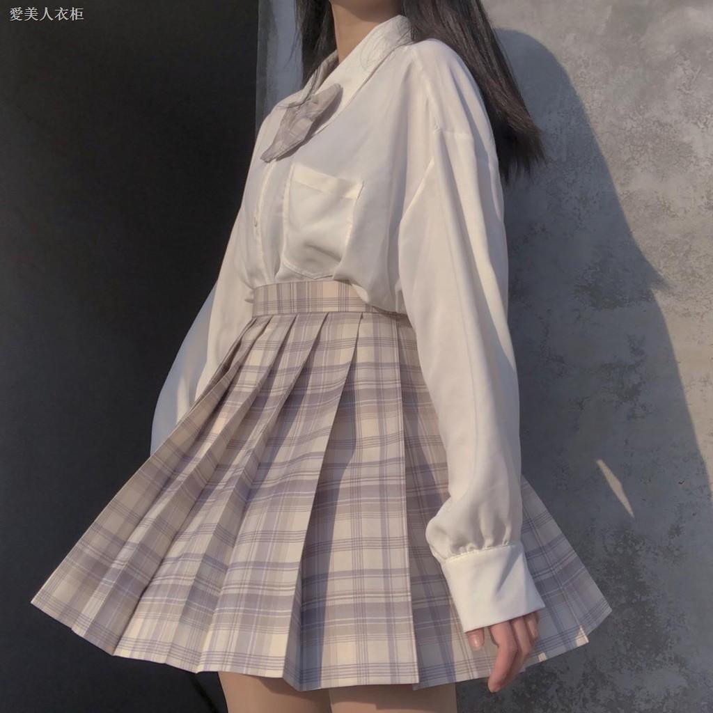 Chân Váy Đồng Phục Xếp Ly Phong Cách Nhật Bản Đáng Yêu