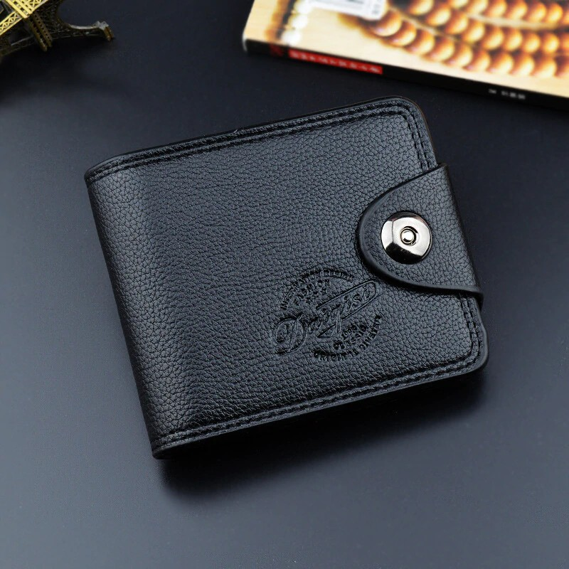 Hot Sale New Credit Card Holder Mini Coin Wallet Men's Simple Portable PU Leather ID Case Purse Bag Pouch Vintage Cards