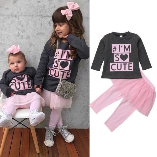 Set Áo Sweater + Chân Váy Xoè Tutu Cho Bé Gái
