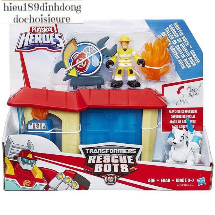 Đồ chơi playskool heroes transformers rescue bots trạm cứu hỏa full box chính hãng