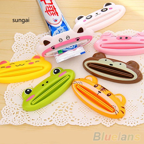 SGBathroom Home Tube Rolling Holder Squeezer Easy Cartoon Toothpaste Dispenser