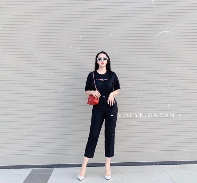 Set áo thun + quần tây nữ