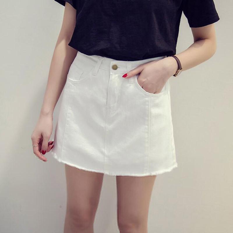Chân Váy Denim Lưng Cao Màu Tối Phong Cách Trẻ Trung Cho Nữ