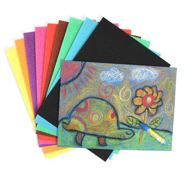 Tập 10 tờ giấy nhám loại đẹp cho bé học vẽ