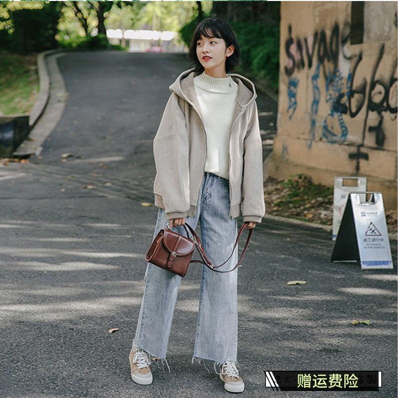 Quần Jean Dài Dáng Rộng Kiểu Vintage Hàn Quốc Thiết Kế Trẻ Trung Cho Nữ