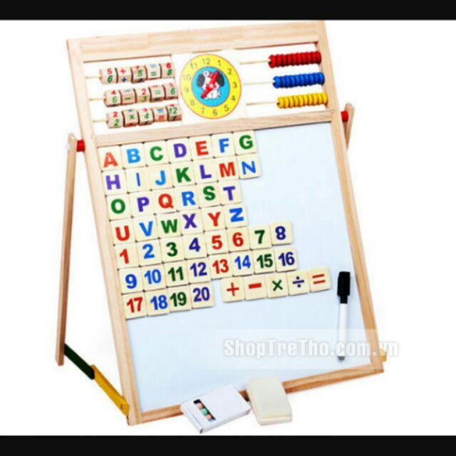 Bảng gỗ 2 mặt - giáo dục thông minh cho bé