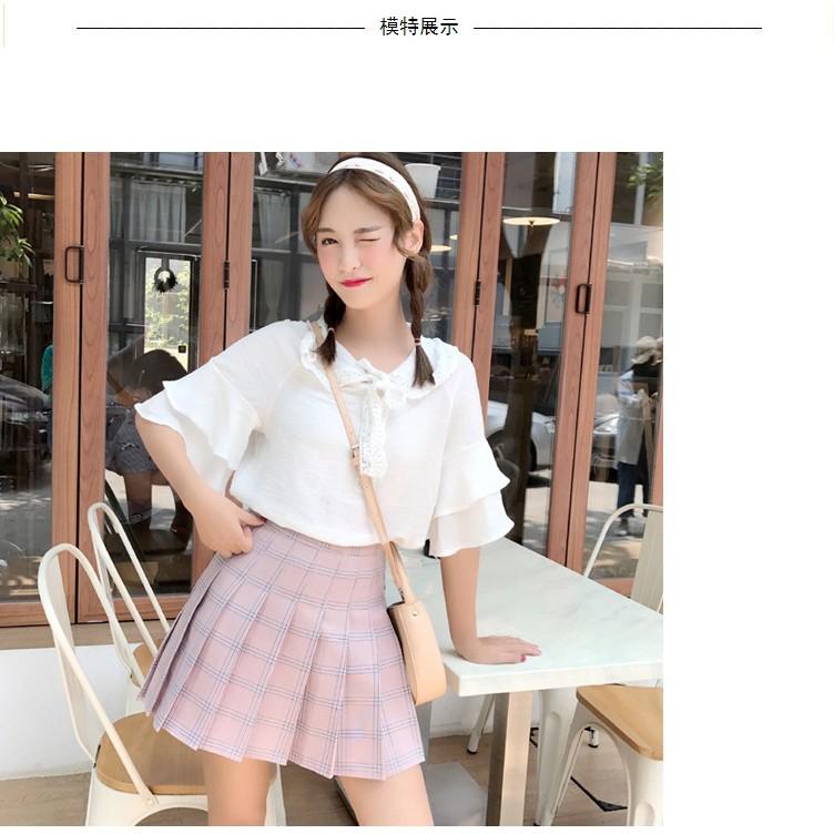 HÀNG CÓ SẴN - Chân váy tennis kẻ caro màu hồng siêu xinh hàng Quảng Châu loại 1