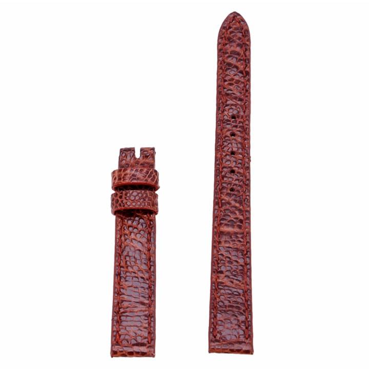 Dây đồng hồ Huy Hoàng da đà điểu màu nâu đỏ-HP8423