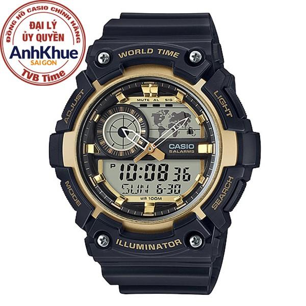 [Mã WTCHMALLTET hoàn 100k xu đơn 499K] Đồng hồ nam Casio Standard chính hãng Anh Khuê AEQ-200W-9AVDF
