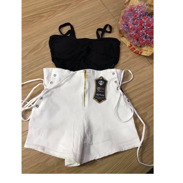 Sale sét áo 2 dây + quần Đan dây size S M L 109k