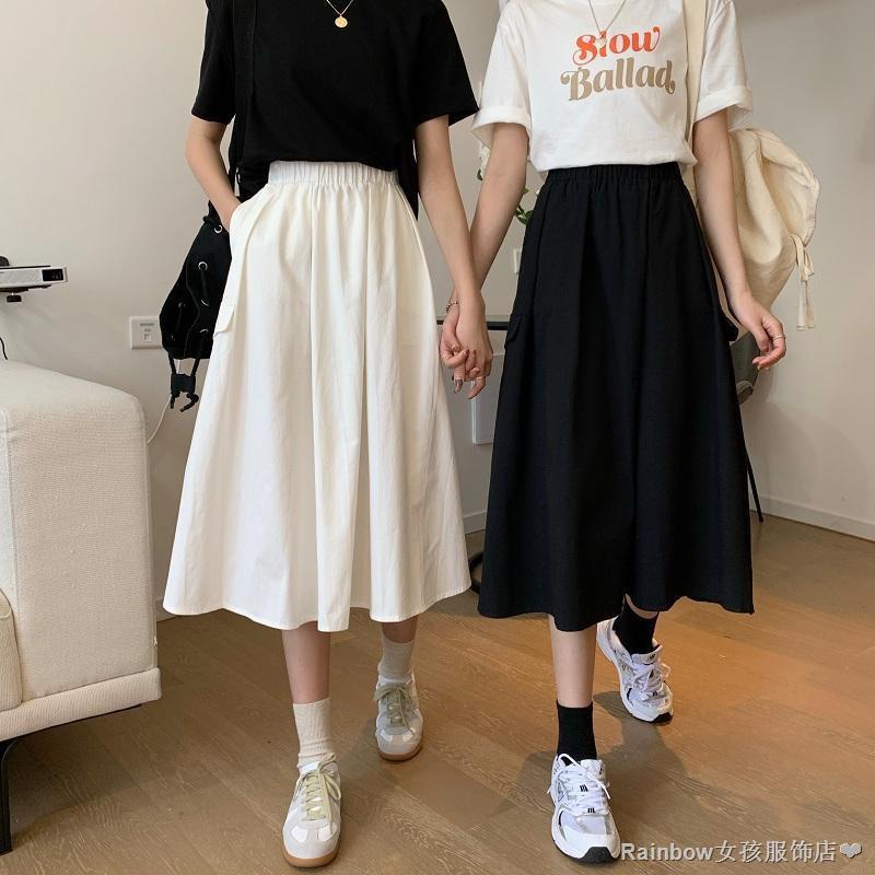Chân Váy Chữ A Lưng Cao Phong Cách Nhật Bản Xinh Xắn Cho Nữ