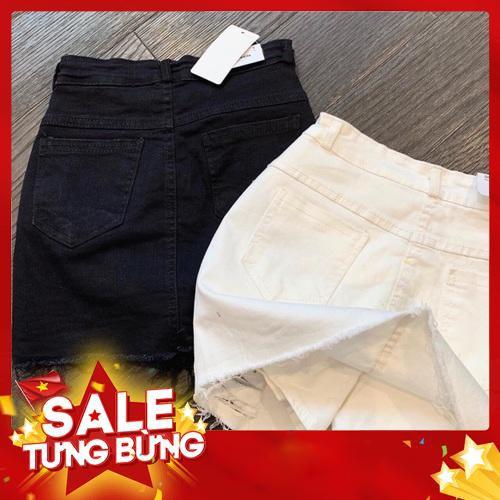 Chân váy kaki rách có quần trong- sẵn kho 1000c (hình thật) -Hàng nhập khẩu