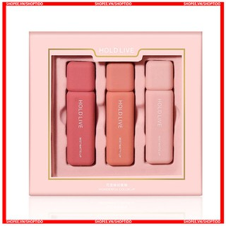 Set 3 son kem Hold Live wonderful color lip , mist matte lip chính hãng Holdlive HL274