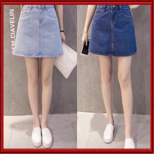[ Hàng Chuẩn ] Chân Váy Jeans Chữ A Công Sở Thời Trang Hiện Đại NX18