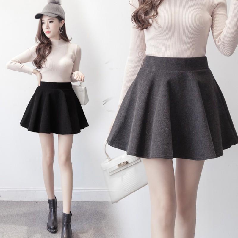 Chân Váy Xòe Lưng Cao Phong Cách Hàn Quốc Xinh Xắn Cho Nữ