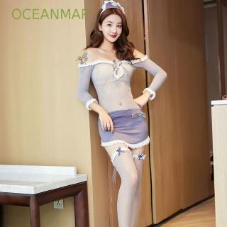 Hình ảnh Sexy pajamas uniform temptation suit bud silk clothing perspective tight-fitting high-elastic sexy underwear