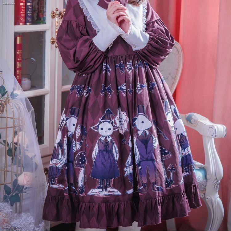 đầm in hoa phong cách lolita