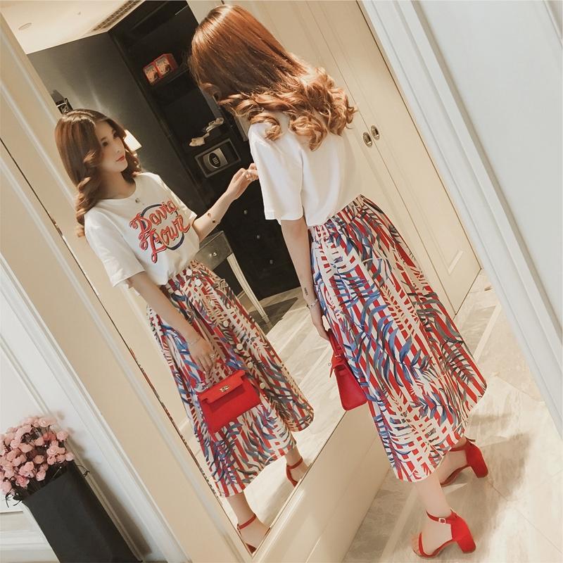 Set Áo Thun Ngắn Tay + Chân Váy Dài Xinh Xắn Thời Trang Theo Phong Cách Cổ Điển Cho Nữ