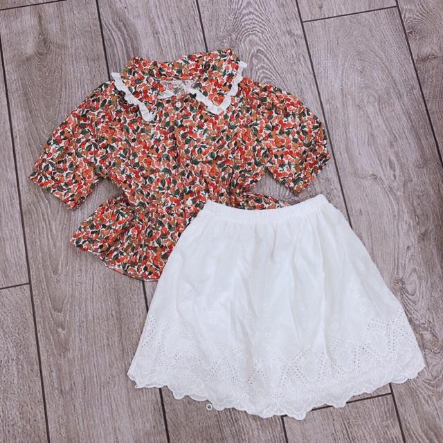 Sét chân váy áo hoa