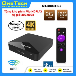 [Giá hủy diệt] Android Tivi Box Magicsee N5 - Chip S905X - Android 9 - Ram 2GB Rom16GB - Xem