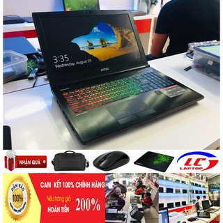 Laptop Chơi Game MSI GE62 6QD (Core i7-6700HQ, RAM 8GB, HDD 1TB, NVIDIA  GTX 960M, 15.6 inch Full HD IPS,phím 7 màu)