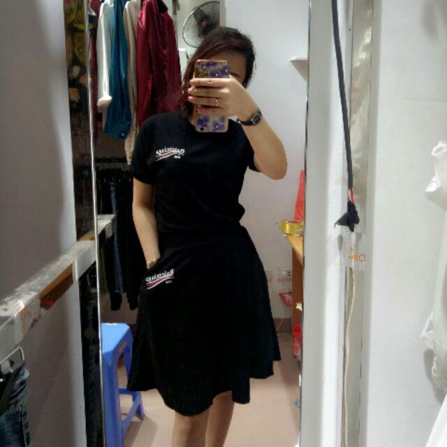Sét bộ áo phông chân váy xoè .hình tự chụp