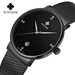 WWOOR  men's watch quartz watch waterproof 30M