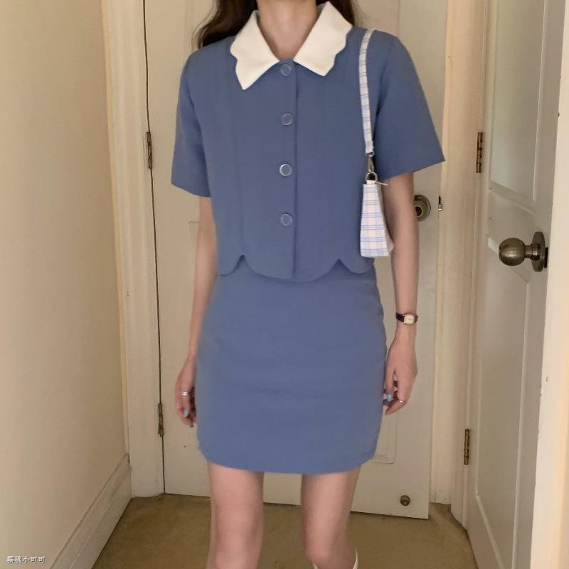 Bộ Áo Kiểu + Chân Váy Thời Trang Xinh Xắn Cho Nữ 2020