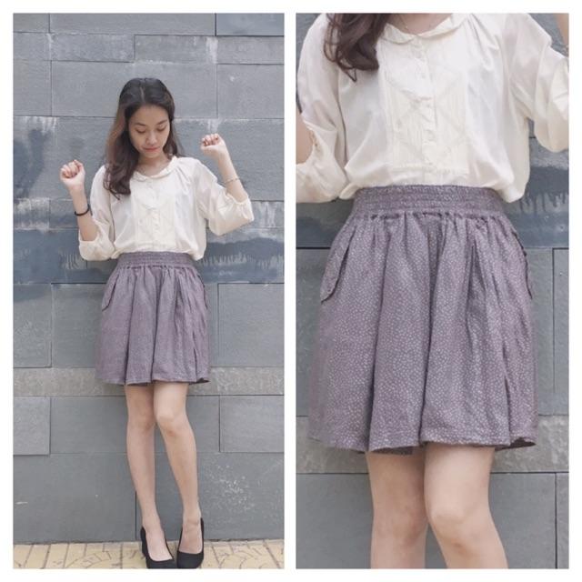 Chân váy quần chấm bi Japan