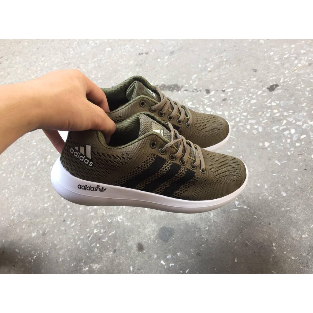 [Free Ship] Giày thể thao Adidas Zoom màu xanh rêu