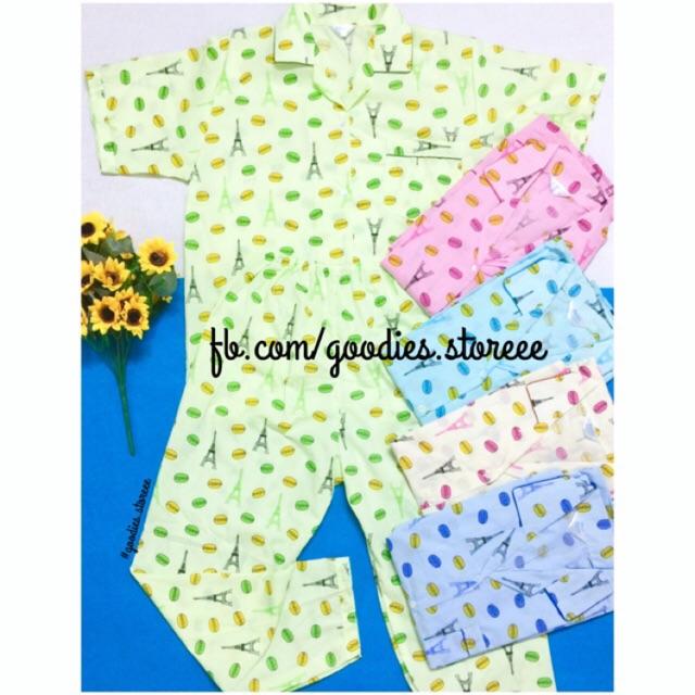 Đồ bộ pijama Macaroon (tay ngắn quần dài)