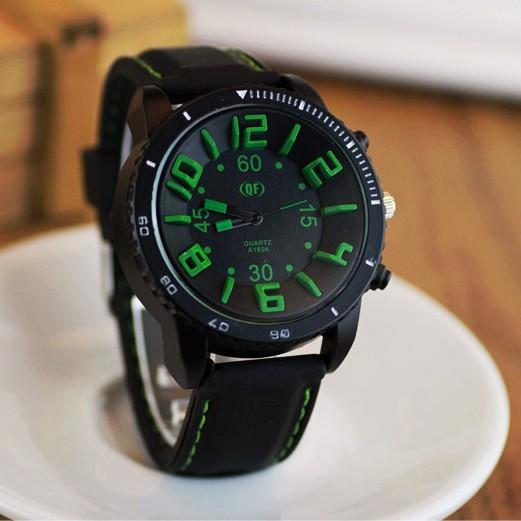 Đồng hồ nam JIS HSP6551 dây silicon, mặt kính size 48mm