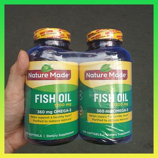 Viên uống Omega 3 Nature Made Fish oil 1200mg hộp 200