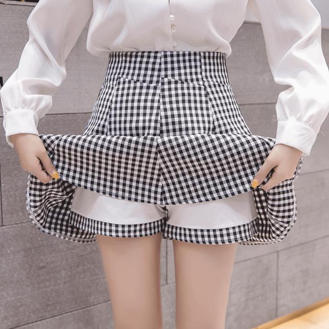Chân Váy Chữ A Lưng Cao Kẻ Sọc Caro Thời Trang 2020 Cho Nữ