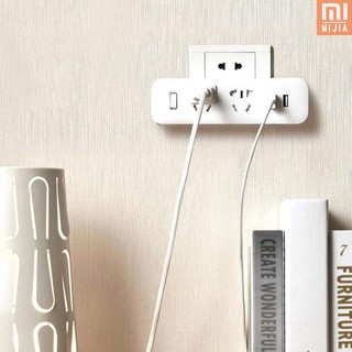 M&J mijia Xiaomi Mijia On-Wall Power Strip Converter Socket Portable Plug Adapter with 2 USB Quick