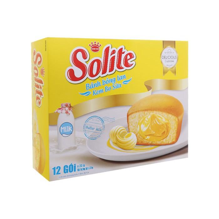 Bánh bông lan kem bơ sữa Solite 276g (12 cái)