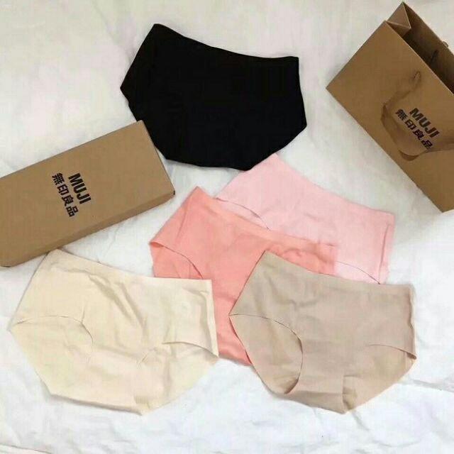 [01 hộp 05 cái 05 màu] quần lót nữ Muji Nhật Bản , quần lót đúc không đường may