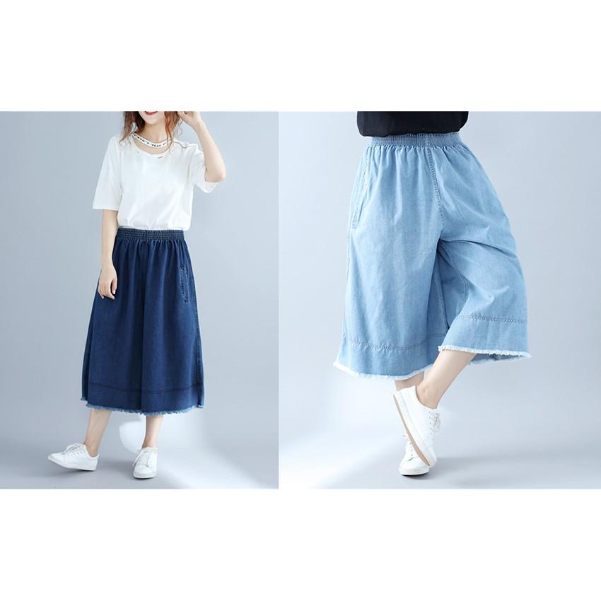 quần jeans nữ lưng cao co giãn