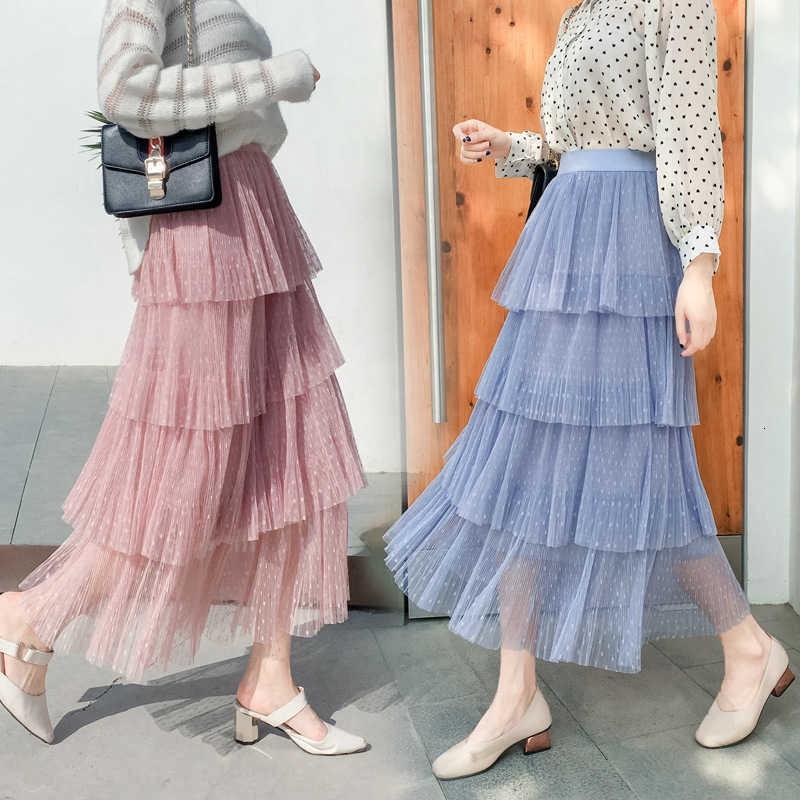 Chân váy mỏng xếp tầng thời trang 2019 dễ thương cho nữ