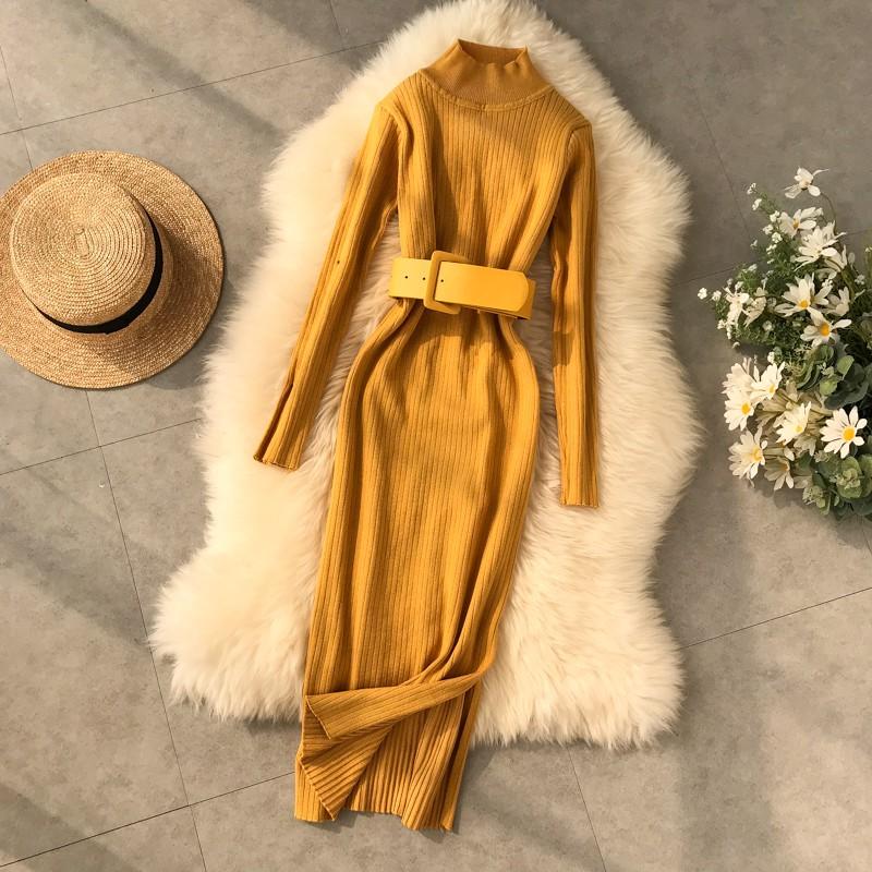 Set Áo Len Tay Dài+Chân Váy Chữ A Thời Trang Nữ
