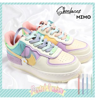 Combo Dây Giày Custom Nike Air Force 1 Low Shadow Pale Ivory - Dây Giày Pastel 140cm