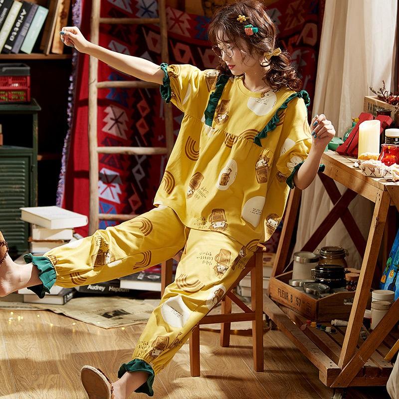 4629671200 - Bộ Đồ Pajamas Cotton Thiết Kế Xinh Xắn Cho Nữ