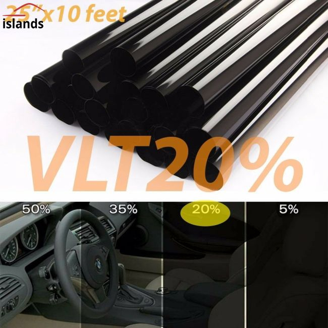 Hình ảnh 50cm*3m 20% VLT Black Pro Car Home Glass Window Tint Tinting Film Roll