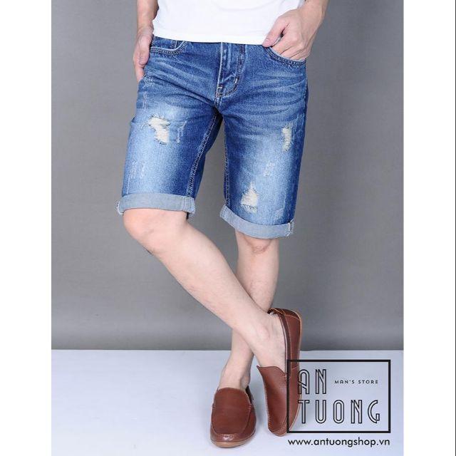 [Big sale ] Quần jean lửng nam thời trang