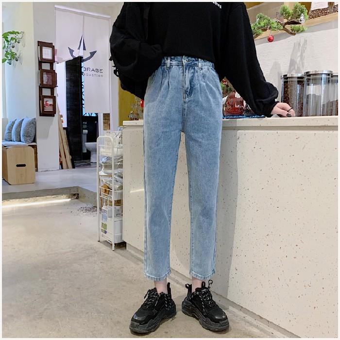 Quần Jeans Ống Đứng Thời Trang Năng Động Cho Nữ