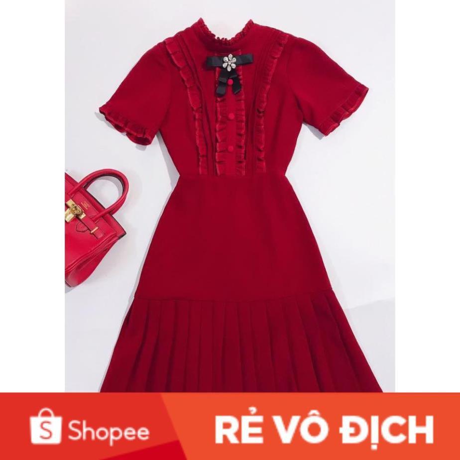 [CAO CẤP] Váy (đầm) dự tiệc thiết kế maggo Nhật mềm mịn không bai,không xù thấm hút tốt V1175 Mie Design kèm ảnh thật