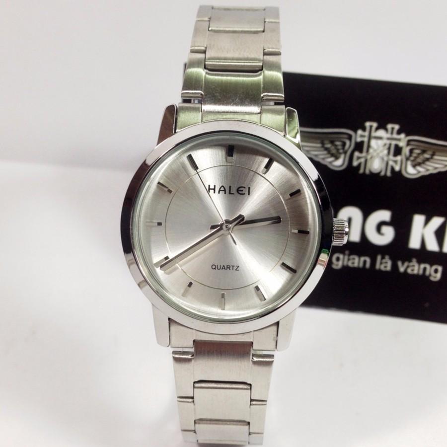 Đồng hồ Nữ dây inox chống nước thương hiệu HALEI 504L